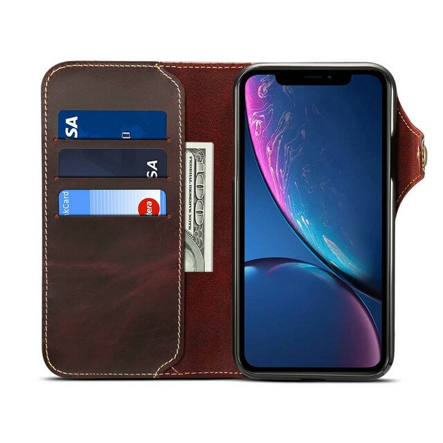 Real Cow Genuine Leather Case For Samsung Note 10 Plus SM-N975 Wallet Flip Stand Cover For Galaxy Note 10 SM-N970 Fundas Cases