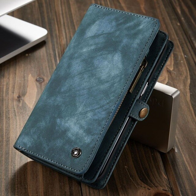 Phone Case For Samsung Galaxy S7 Edge S8 S9 S10 Plus S10E note 8 9 10 Pro case Multi-functional Wallet Leather Magnet back cover