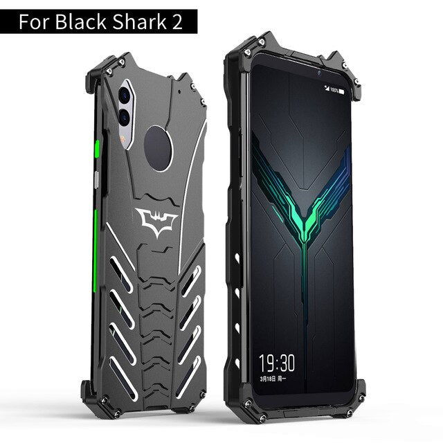 For Xiaomi Black Shark 2 Pro Case R-JUST Batman Luxury Aluminium Metal Case For Black Shark 2 Phone Cover Coque BlackShark 2 pro
