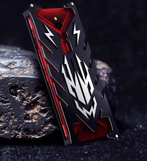 Zimon Armor II Aviation Metal Case For ZTE Nubia Red Magic 3 Bumper Powerful Case Shockproof Aluminum Bumper Back Cover Case