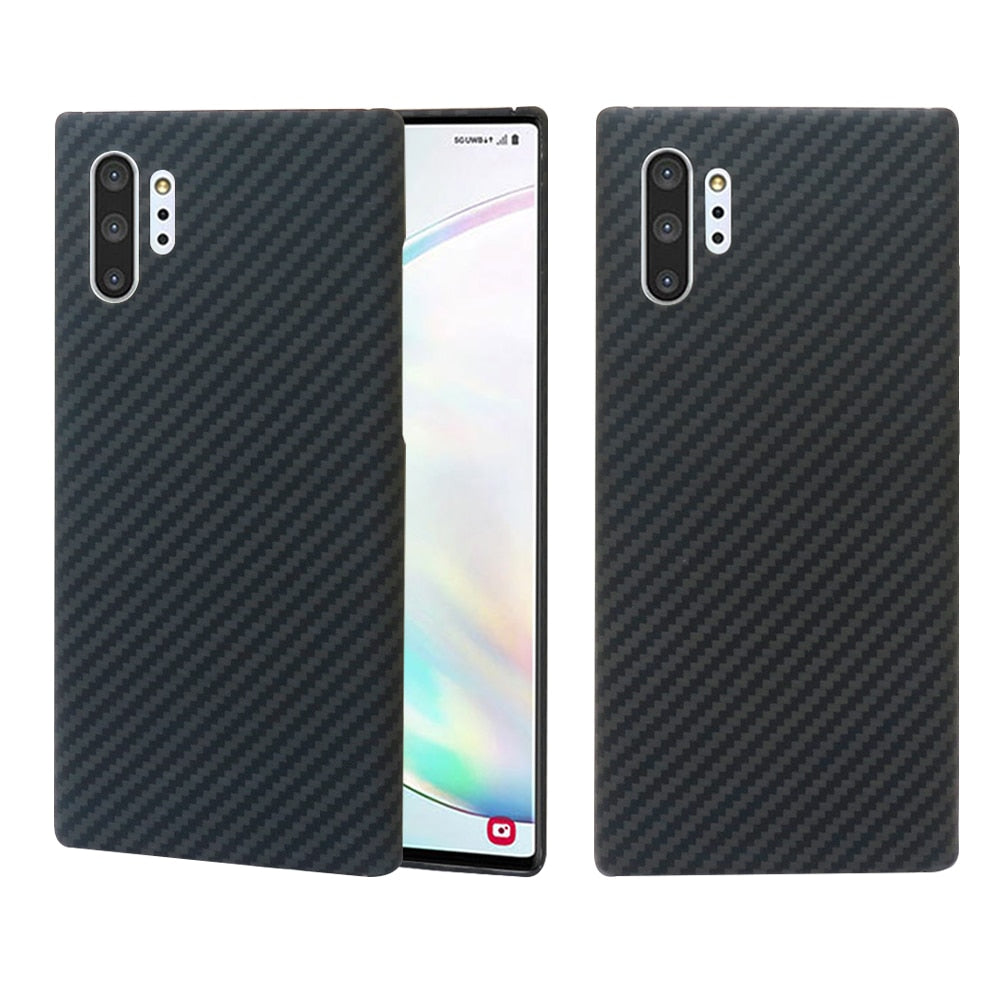 for Samsung Galaxy Note 10 Plus Case Carbon Fiber Pattern Ultra Thin Aramid Fiber Cases Cover for Samsung S20 S20+ S20 Ultra