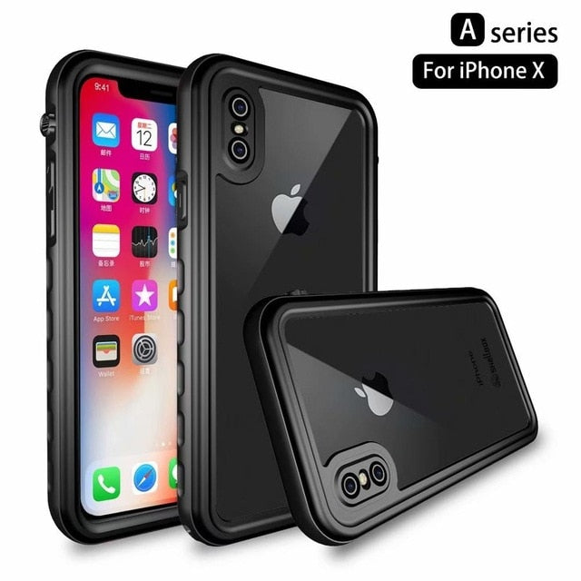 Olhveitra Waterproof Case For iPhone 11 Pro XS MAX XR X 6 6S 7 8 Plus hockproof Swimming Diving Cover Outdoor Underwater Coque