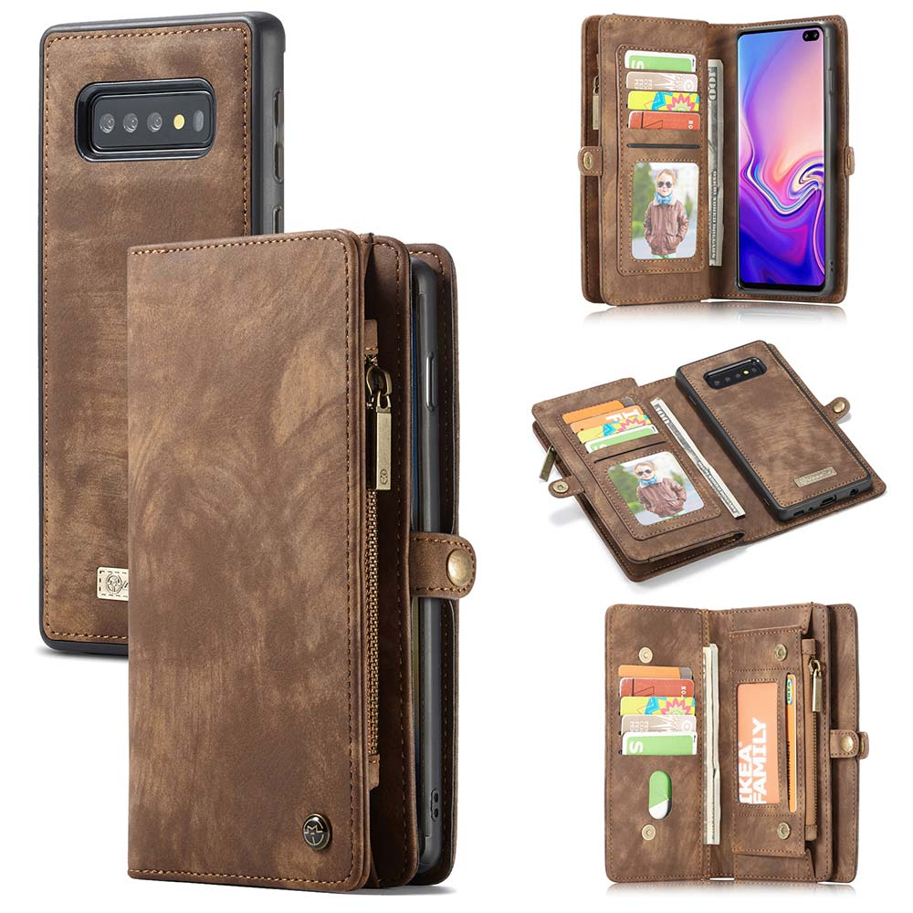 Retro Leather Case For Samsung Galaxy Note 10 Plus S7 Edge S8 S9 S10 S10E A50 A70 A40 Detachable Magnetic Wallet Phone Pouch Bag