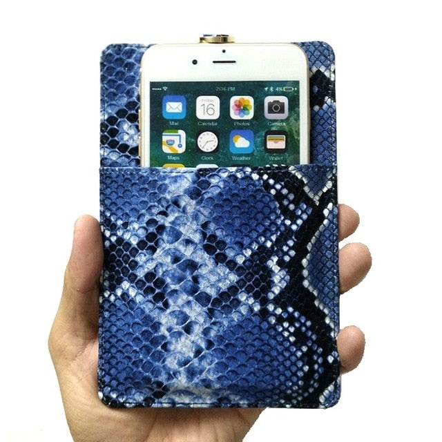 Genuine Leather Card Holder Pouch Phone Case For iPhone 11 Pro Max X XS XR 7 8 Plus Luxury Crocodile Strap Thin Slim Bag Cover