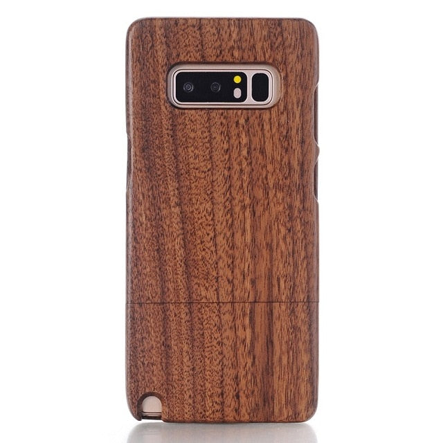 Natural Real Wood Wooden Bamboo Case For Samsung Galaxy Note 9 8 5 S10e S10 S9 S8 Plus S7 S6 Edge S5 Case Cover Shell Bag