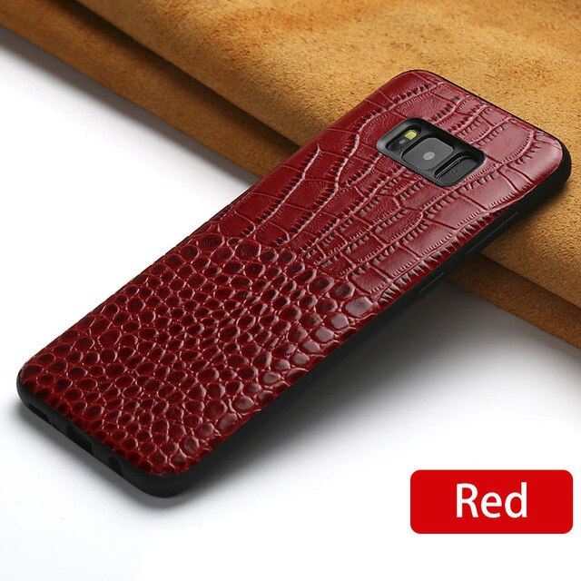 For Samsung Galaxy A7 2018 A8 A9 case Original leather Coque for S8 S9 s7 s10 plus back covers A30 Note 8 9 a5 2017 A80 A90 case