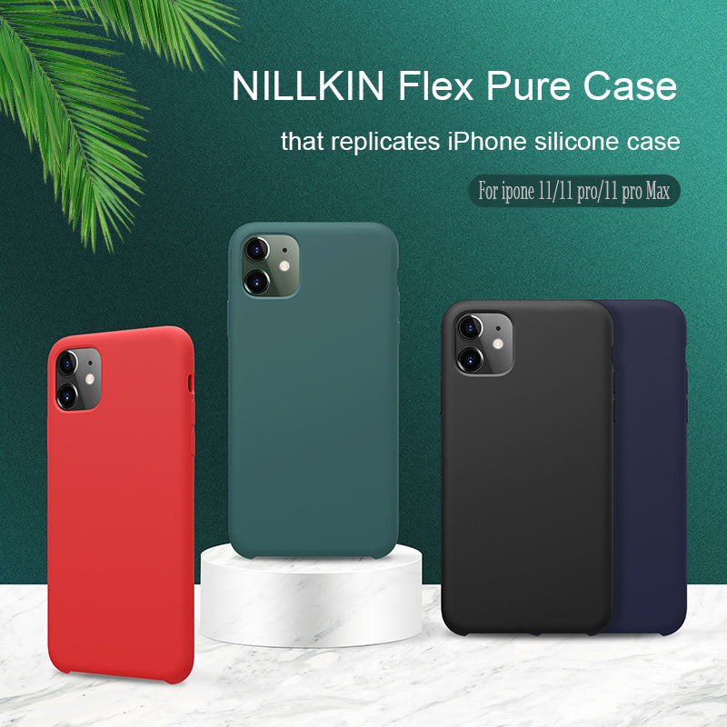 For Apple iphone 11 XR case NILLKIN Flex Pure CASE Slim Soft Liquid Silicone Shockproof Phone Case For iphone XS 11 Pro MAX
