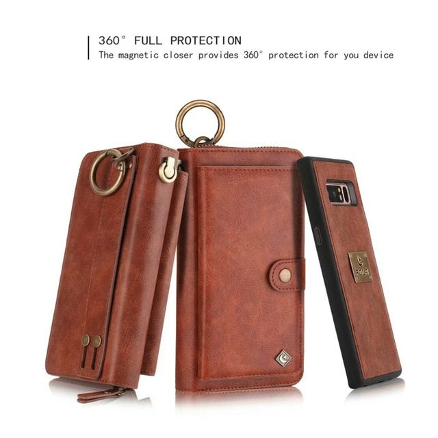 Purse Wristlet Phone Case For coque iphone 11 Pro X Xr Xs Max 6 6s 7 8 Plus Funda Etui Luxury Leather Protective Phone Cover Bag
