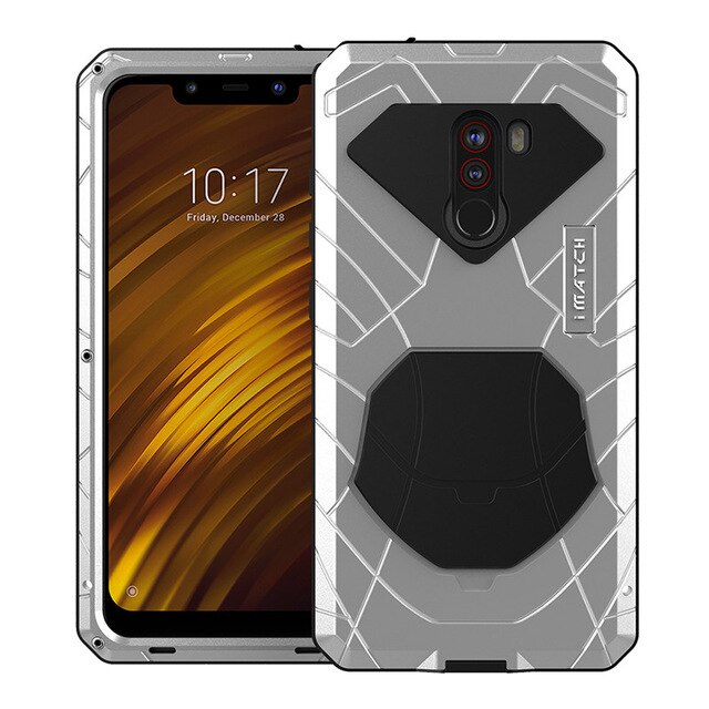 For Xiaomi Mi Pocophone F1 X2 Phone Case Hard Aluminum Metal Tempered Glass Screen Protector Cover For Xiaomi 9 9T 9T Pro