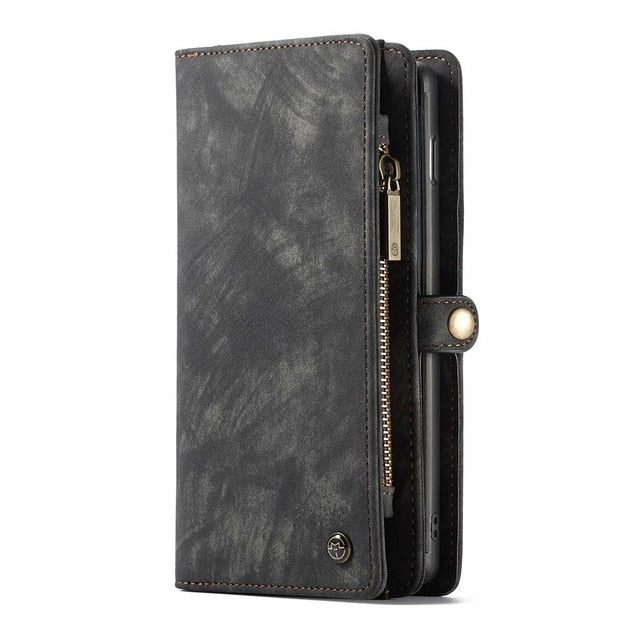Caseme Leather Phone Case For Samsung Note 10 Plus 9 8 S10 5G S9 Protective Wallet bag For Samsung A80 A90 A70 A40 Luxury Cover