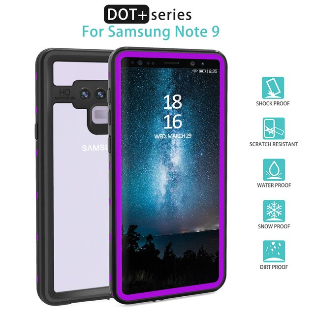 Real Waterproof Case For Samsung S20 Ultra S9 S10 Plus S10E Protection Cover Under Water Proof Phone Case For Galaxy Note 10 9 8