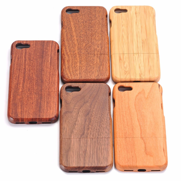 100% Natural Green Real Wood Wooden Case For iPhone 11 Pro Max XS Max XR X 8 7 6 6S Plus 5 5S SE Case Cover Phone Shell Skin Bag