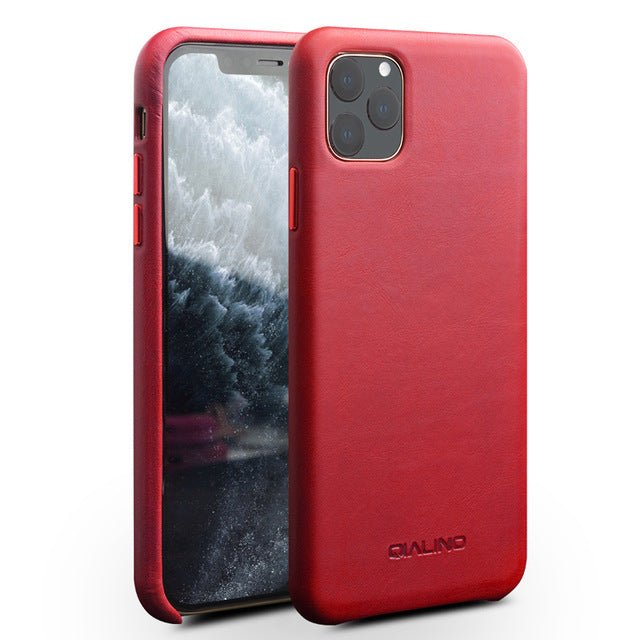 For iPhone11 Office Genuine Leather Back Case iPhone X XR Retro Cowhide Leather Phone Case Slim Back Cover for iPhone 11 Pro Max