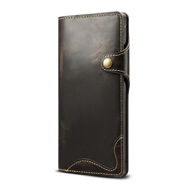 Genuine Leather For Samsung S20 Ultra Note 10 Plus 9 Case Wallet Flip Case for Samsung Galaxy S8 S9 S10 Plus Note 8 9 10 Case