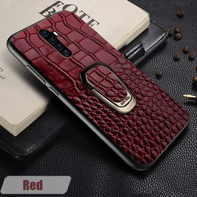 Original Leather Magnetic Kickstand Phone Case for Realme X2 Pro X2 X XT 5 Pro Cover For OPPO A5 A9 2020 Reno 2 3 Z Reno Ace R17