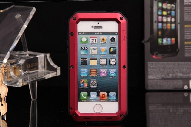 waterproof dustproof Camouflage Metal Aluminum+Silicone Protection case For iphone 6 cover