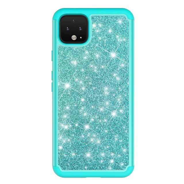 Glitter Skin tpu hard Plastic 2 in 1 case for iphone 11 11pro max X Xsmax 6s 7 7plus 8plus Armor Protection Anti-fall back cover