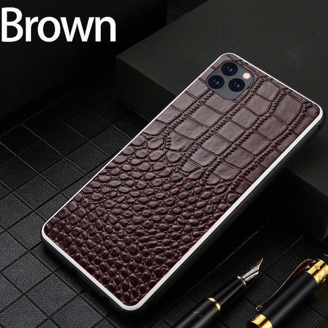 Fashion Genuine Leather Phone case FHX-LT for iphone 6S 7 8 Plus X XR XS XS MAX 360 Full protective cover for iphone 11 Pro Max