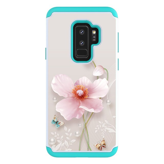 Cute Painted Skin tpu hard Plastic 2 in 1 cases for samsung S10 S10plus S9plus S8 S7 S7edge NOTE 9 note10 armor phone cover capa