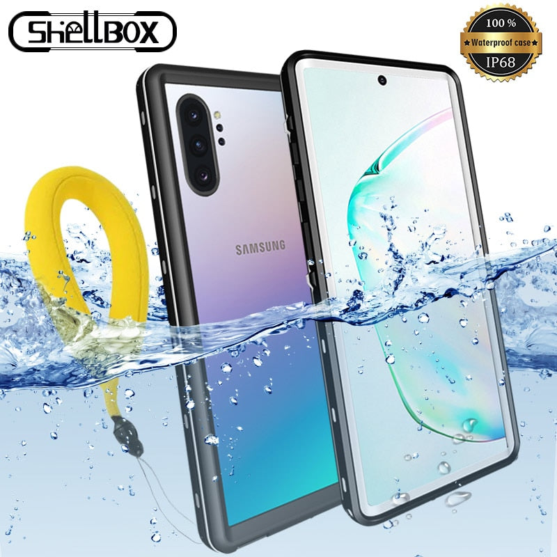 Waterproof Case For Samsung Note 10 10Plus Case Underwater Diving Swim Proof Dustproof Full Cover For Samsung Note 8 9 S8 S9 S10