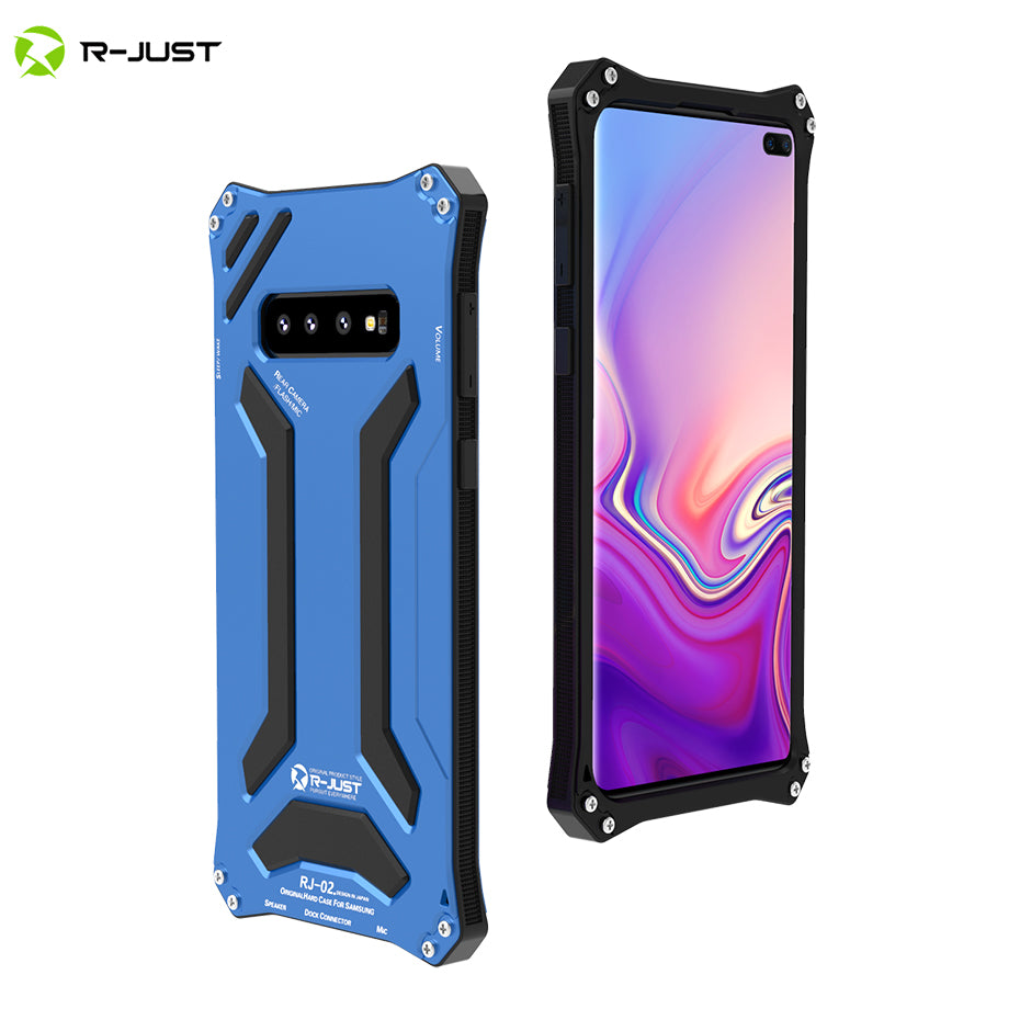 R-JUST For Samsung S10 S10 Plus 5G Gundam Armor Case for Samsung Galaxy S8 S9 Plus Note 9 8 10 Waterproof Shockproof Metal Cover
