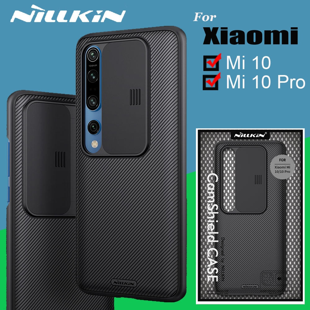 Nillkin Camera Protection Case For Xiaomi Mi 10 Mi10 Pro Case Slide Lens Protect Privacy Cover Cases for Xiaomi Mi 10 Pro Funda