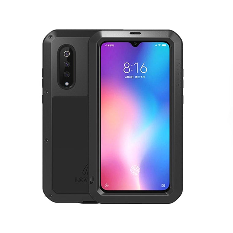 Aluminum Metal Armor For Xiaomi Mi 9 Case Shockproof Rugged Full Body Cover Xiaomi Mi9 Case Cover Mi 9 With Gorrila Glass Covers