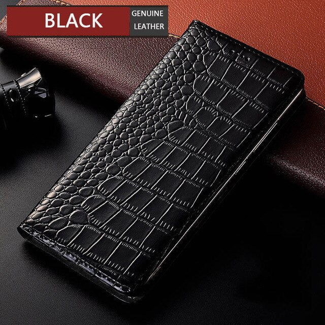 Crocodile Genuine Leather Case For Nokia 1 2 3 5 6 7 8 9 Plus sirocco 2018 Luxury Flip Cover Mobile Phone Cases