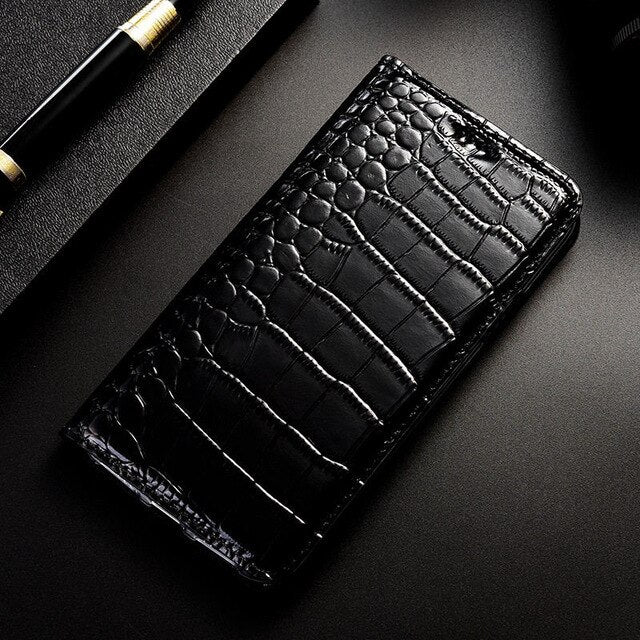 Crocodile Genuine Leather Case For Nokia 6 2018 6.1 2.1 7 Plus X5 X6  Nokia 1 2 3 5 6 7 8 9 Business Flip Cover Phone Cases
