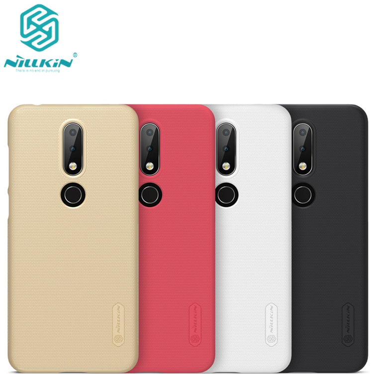 10pcs/lot wholesale Nillkin Super Frosted Shield Case For Nokia X6 2018 PC Hard Back Cover Case For Nokia X6 case