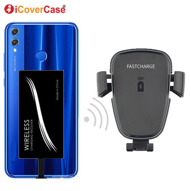 Car Phone Stand Mount Qi Wireless Fast Charger For Nokia 2.3 TPU Case Mobile Wireless Receiver Charging Car Holder For Nokia2.3