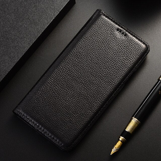 Litchi Genuine Leather Case For Nokia 1 2 3 5 6 7 8 9 2.1 3.1 5.1 6.1 7.1 8.1 Plus Luxury Flip Cover Mobile Phone Cases