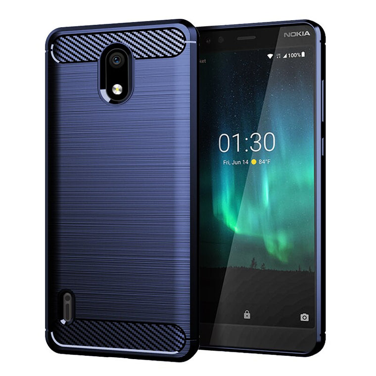 200pcs/lot For Nokia 2.2 4.2 6.2 Soft Anti-Scratch Carbon Fiber Brushed Shockproof TPU Case For Nokia 3.1 C 3.1 A