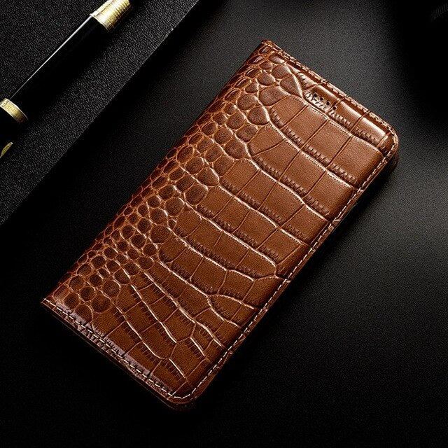Crocodile Genuine Leather Phone Case For Nokia 7 Plus X5 X6 X7 X71 Coque Luxury Flip Cover Case For Nokia 6 2018 Card Pocket