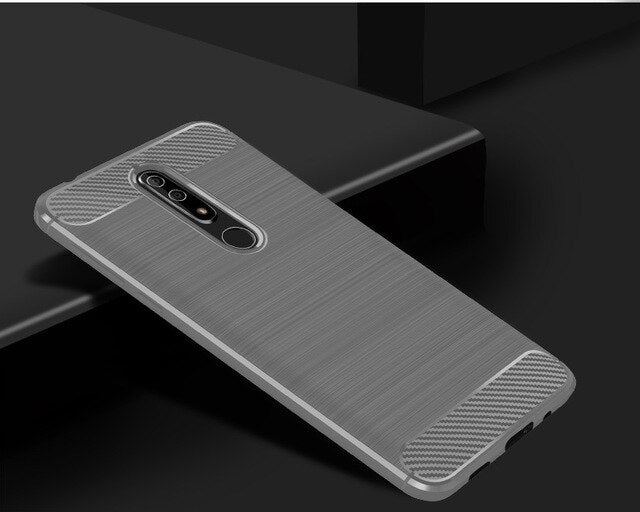 Coque Shell For Nokia 5.1 Soft Brushed Silicone Case for Nokia 3.1 TPU Carbon Fiber case for Nokia 2.1 TPU Case