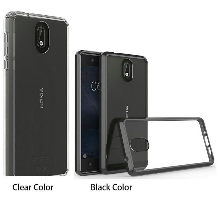 100pcs/lot For Nokia 6.1 Plus Acrylic Clear Armor Shockproof Hard Case For Nokia 5.1