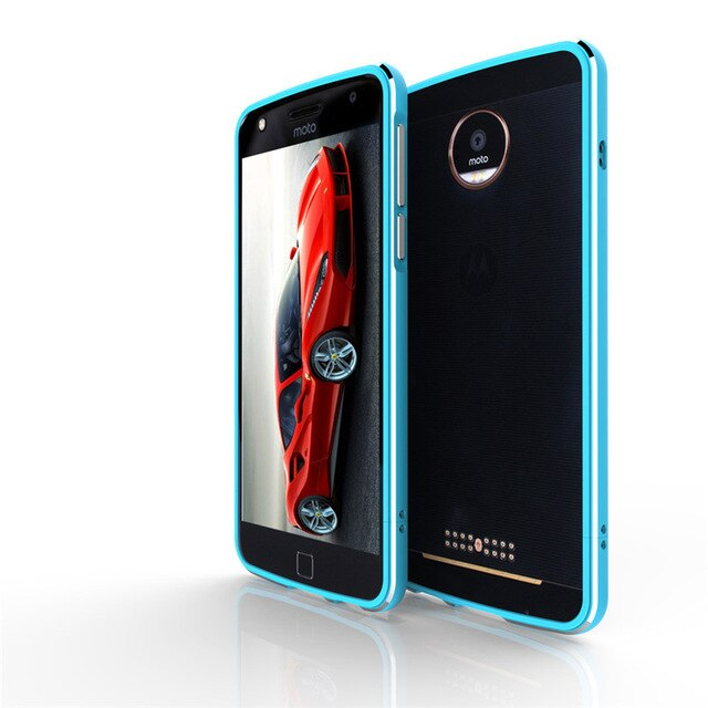 For Motorola Moto Z2 Play Case Metal Frame Double Color Aluminum Bumper Protect Cover for Motorola Moto Z2 Play XT1710 Case