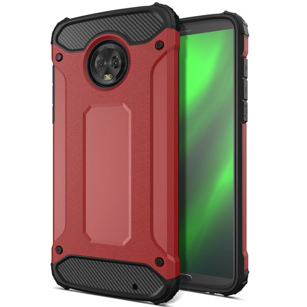 100pcs/lot Anti-knock Heavy Duty Removable Tough Armor Hard Case For Motorola Moto G7 G7 Plus G7 Power