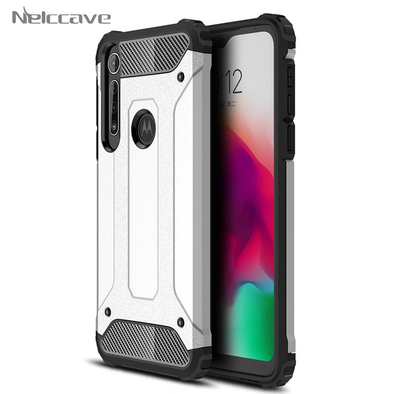 50 Pieces Armor Cases For Motorola Moto G8 Plus G7 Power G6 Play G5 G5S G4 G3 Shockproof Phone Case Hybrid Dual Layer Cover