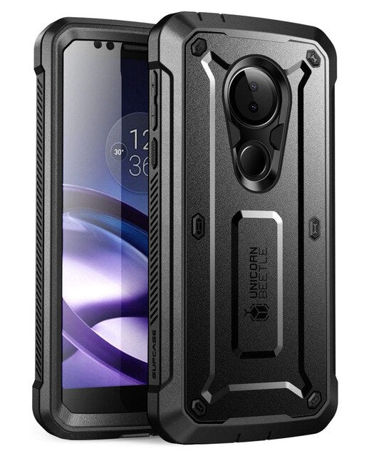 Case For Moto G6Play SUPCASE UB Pro Full-Body Rugged Holster Cover with Built-in Screen Protector For Moto G6 Play Case