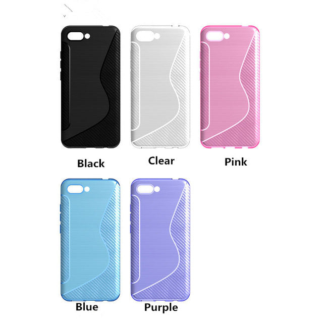 200pcs/lot NS Line Gel TPU Slim Soft Anti Skiding Back Cover Case For Moto One Vision / P40 Rubber Silicone Skin Cases