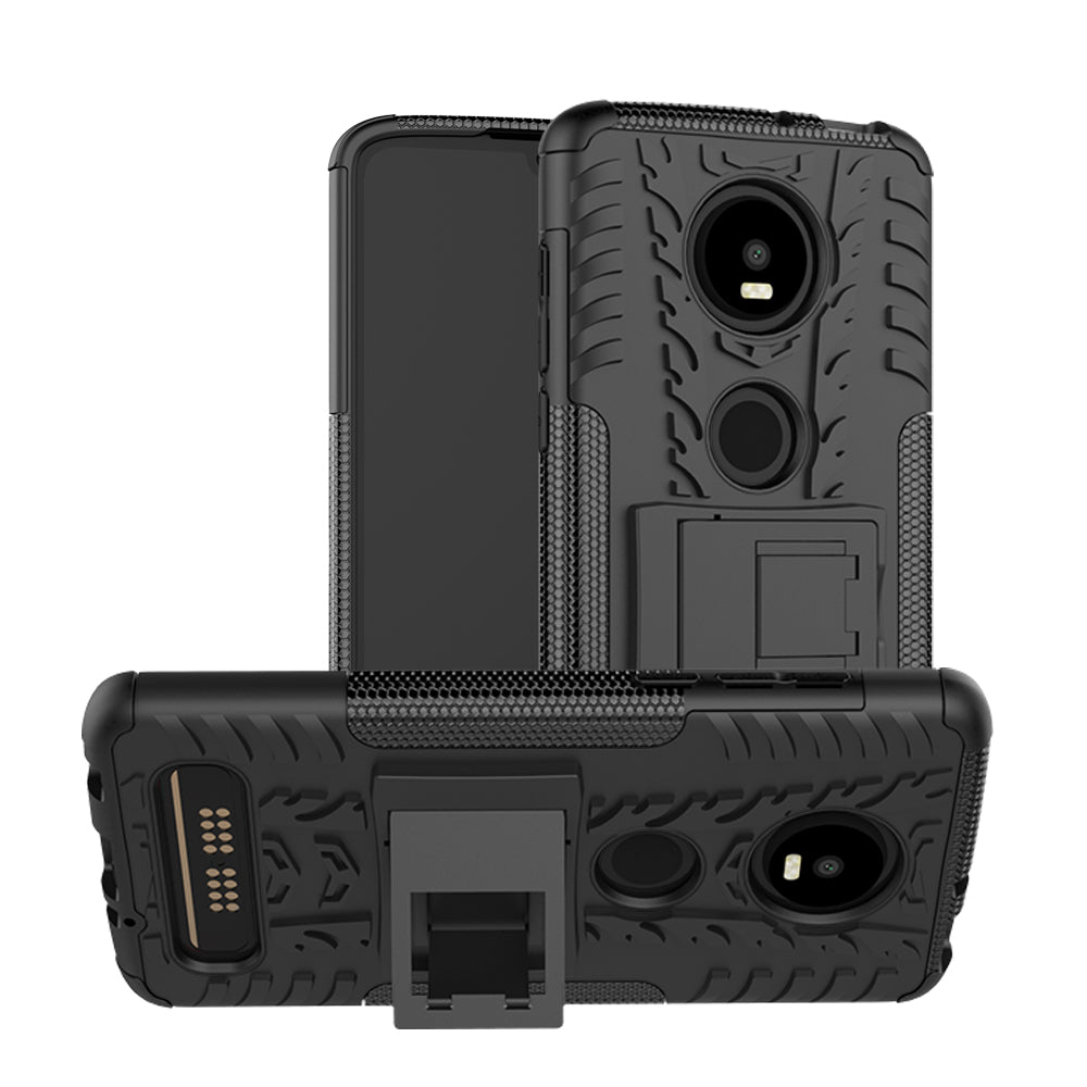 50pcs/lot Hybrid Kickstand Rugged Rubber Armor Hard PC+TPU 2 In 1 Case Stand For Moto Z4 G7 Play Power