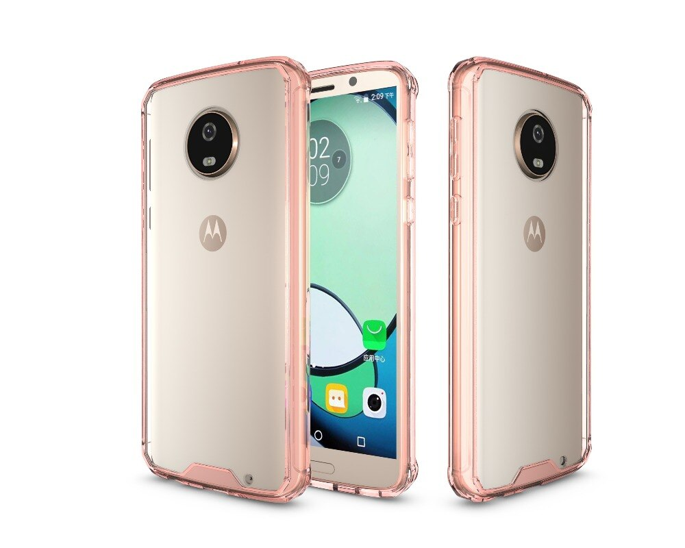 50pcs/lot Free shipping Crystal Armour TPU+Acrylic back shell cover for Motorola Moto G5 G5 plus G5S G5S plus G6 G6 plus G6 play