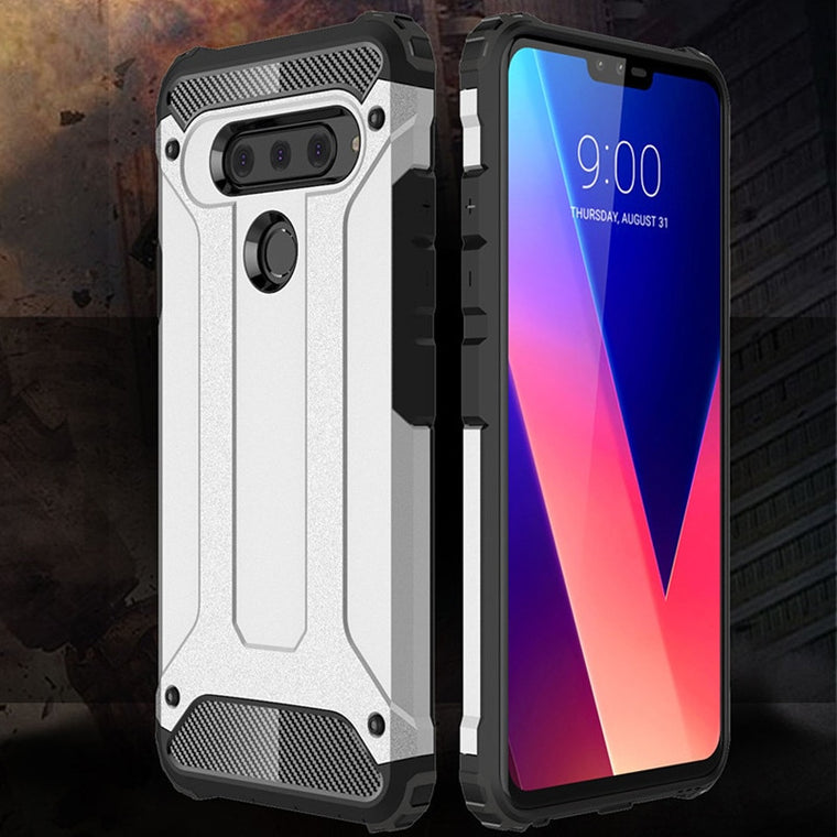 10PCS Rugged Soft Cover For LG V50 ThinQ G8 G8S V40 G7 G6 G5 Anti Knock Hybrid Hard Tough Dual Layer Armor Shockproof Phone Case