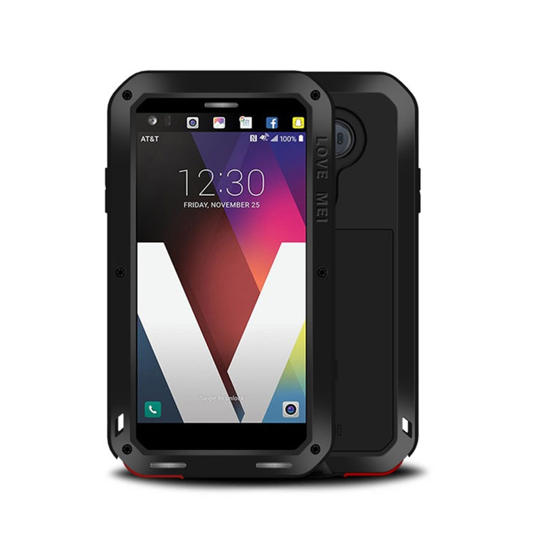 Aluminum Metal Armor Heavy Duty Protective Case For LG V40 V30 Cases Shockproof Full Body With Glass Cover for LG V20