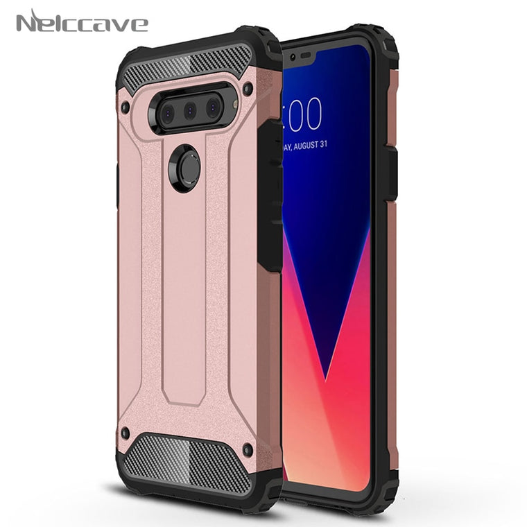 1000Pieces Armor Case For LG V50 ThinQ G8 V40 G7 G6 G5 US375 K371 K350 K8 K5 K10 K7 K4 Phonix 2 Escape 3 Hybrid Dual Layer Cover
