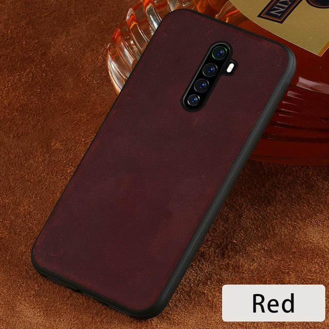 Genuine PULL-UP Leather Phone Case for Realme X2 Pro X2 X XT 5 Pro Cover For OPPO A5 A9 2020 Reno 2 3 Z Reno Ace R17 K5 Cover