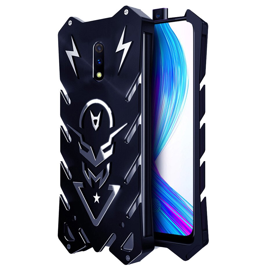 For OPPO Realme X Case 6.53 inch Luxury  Aviation Aluminum Shockproof Metal Armor Phone Shell Funda For Realme X Cover Case