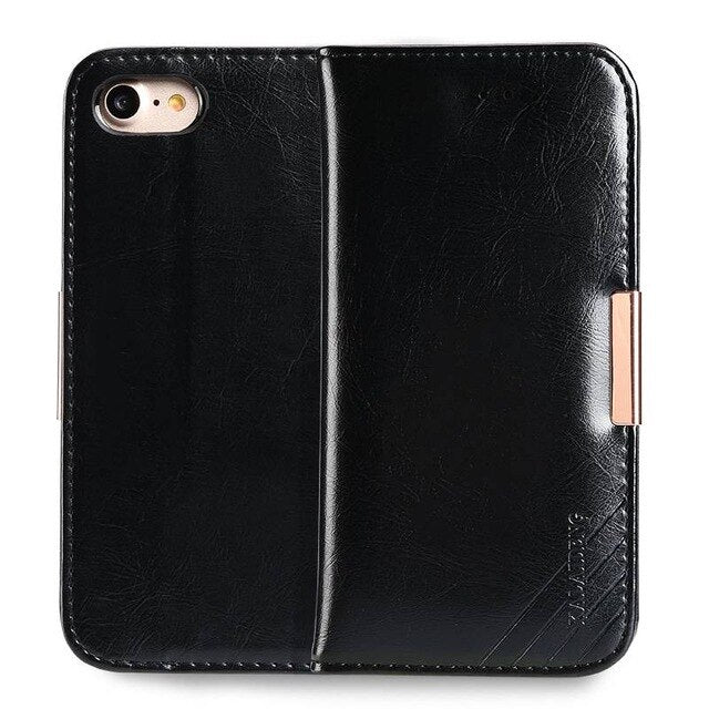 Luxury Flip Genuine Leather Case For iPhone X XS Max XR 6 6s 7 Plus Wallet Coque Cover For iPhone 6 6S Plus iPhone 7 Plus Capa