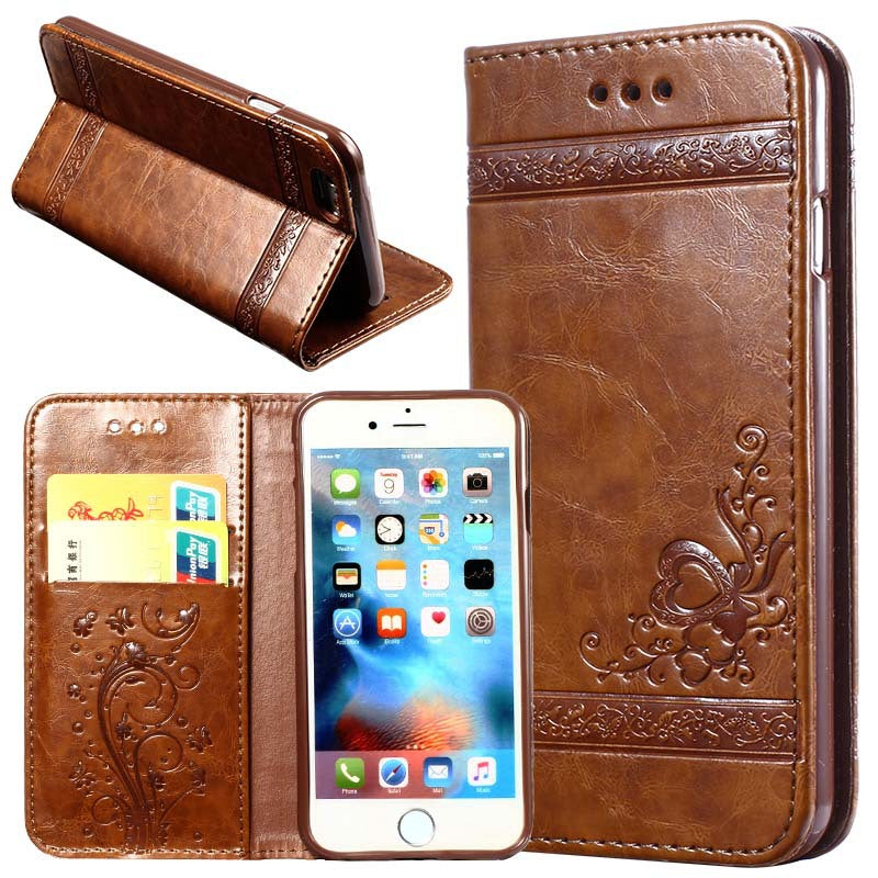 10PCS  Leather Flip Wallet Phone Case For  i7 i8  Dirt Resistant PU Silicon Cover Phone Bag Cases for iPhoneX